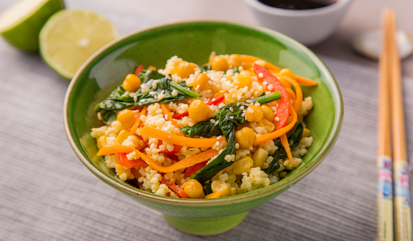 Snack with Millet, Chickpeas and Vegetables