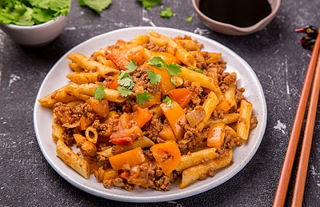 Pasta with Mutton and Tomato Sauce