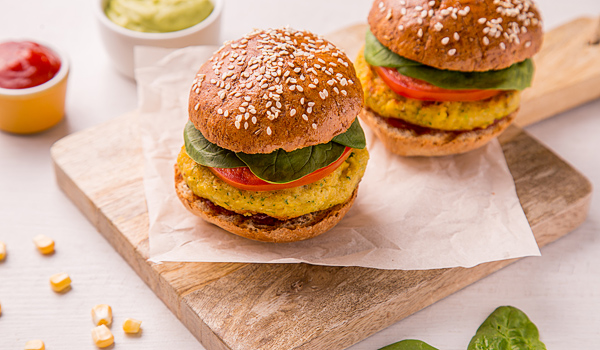 Vegetable Burger (Pea Cutlet)