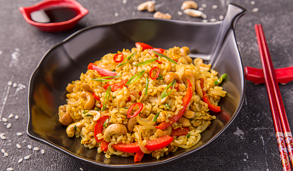 Kau-Pad (Thai Fried Rice with Egg)