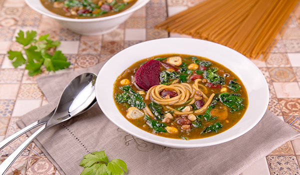 Iranian Soup  with Chickpeas and Spinach