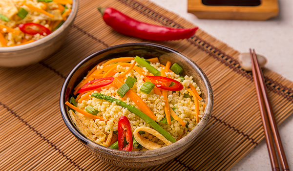Vegetables and Millet Stir Fry